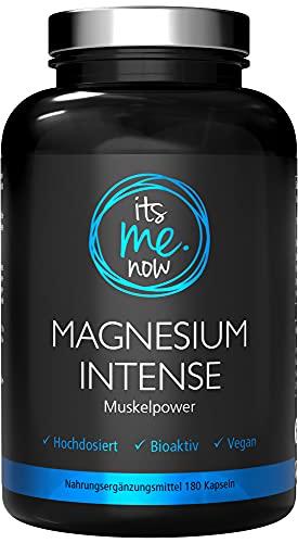 itsme.now® Magnesium Intense - 180 Stück Magnesium Kapseln - 600mg Magnesium hochdosiert elementares Magnesium - höherer Gehalt als Magnesiumcitrat - Vegan - Made in Germany