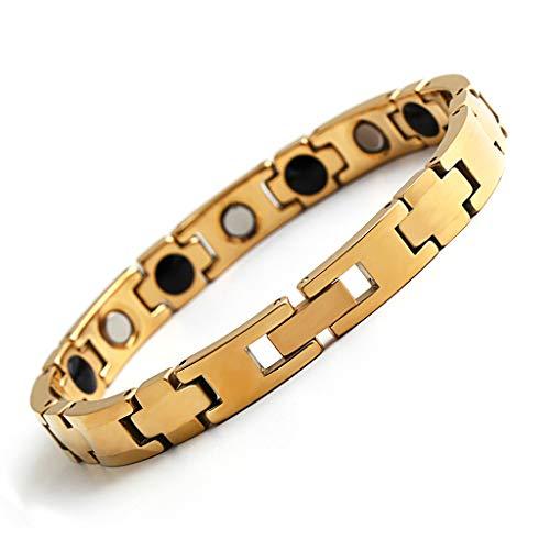 DZLRP Elegante Rose Gold Armband, Magnetische Therapie Armband, Gezondheid Magneet Artritis Armband, RVS Armband, Relief Artritis Pijn