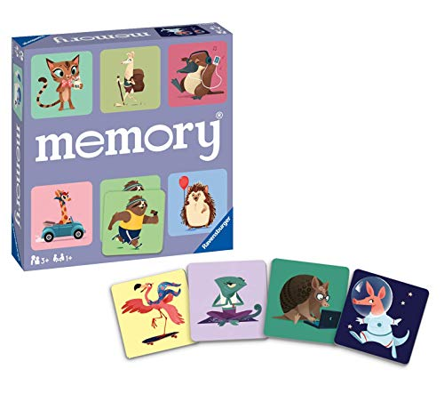 Ravensburger Wild World of Animals Memory Game for Boys & Girls Age 3 & Up! - A Fun & Fast Cuddly Matching Game (20360)