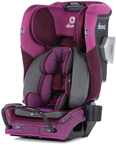 Best Price! Diono Radian 3QXT Latch, All-in-One Convertible Car Seat, Purple Plum