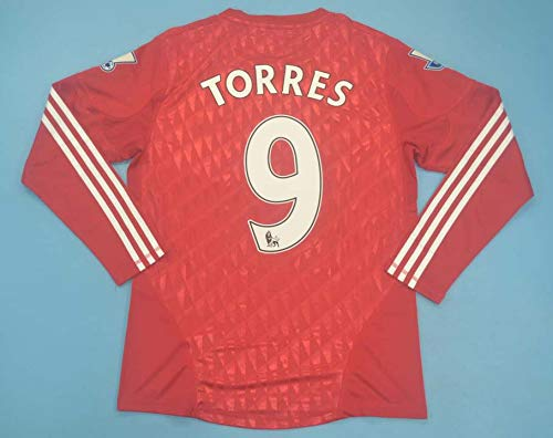 SU Fernando Torres#9 Retro Long Sleeve Trikot 2011-2012 Full League Patch RED Color (L)