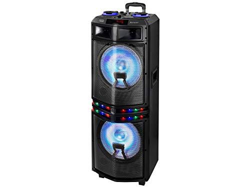 Trevi Xfest Xf3200 Pro Altoparlante Speaker Amplificato con Mp3, USB, SD, Aux-In, Bluetooth, Microfono con Cavo in Dotazione, Karaoke Party Speaker, Tripla Alimentazione
