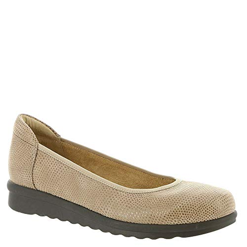 VANELi Womens Donia Closed Toe Espadrille Flats, Tan, Size 8.0