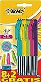 Bic - M10 Clic Standard + Fashion - Stylo-Bille - Noir / Bleu / Rouge / Vert / Rose / Violet / Vert / Turquoise