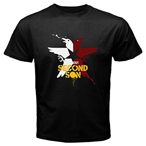 New Infamous Second Son Superhuman Action Game Men's Black T-Shirt blackXL