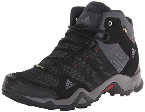 adidas Outdoor Men's Ax2 Mid Gore-Tex Hiking Boot, Dark Shale/Black/Light Scarlet, 12 M US