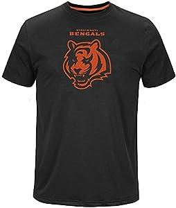 Majestic Cincinnati Bengals Skill in Motion Mens Black Shirt Big & Tall Sizes (2XL)