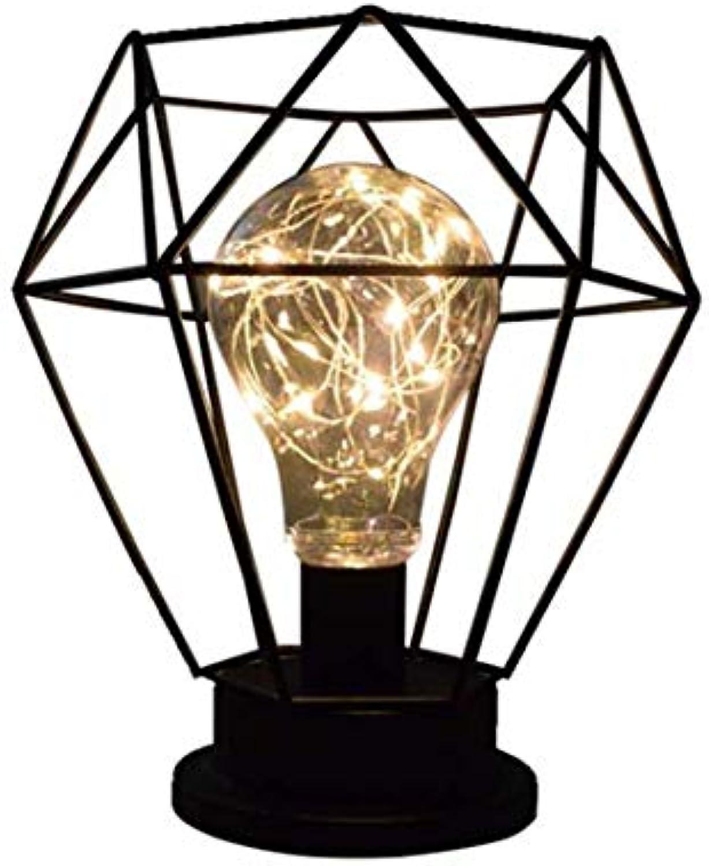 Led-leuchten Edison Lightsretro Stil Diamantform Tischlampe Dekorative Nacht Stand Lampe Batteriebetriebene Eisen Kunst Schreibtischlampe Led Draht Lichter