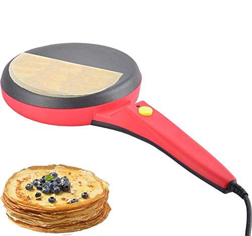 Gpzj Machine à crêpes, Machine à crêpes Ronde antiadhésive électrique, poêle à Frire Pizza, omelettes et Pains Plats, Outils de Cuisson 220V