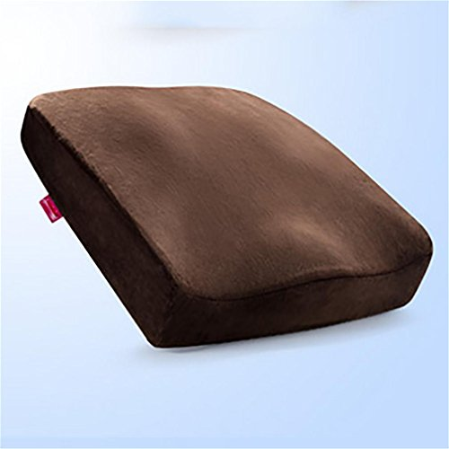 LL-Travel foam cushions ease Coccyx sciatica pelvic prostate - correct posture naturally perfectly suited to any chair and car seat, brown
