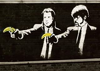 Banksy Pulp Fiction Póster - tamaño A3 (420 x 297 mm)