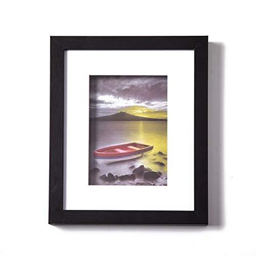 Muzilife Tiefe Bilderrahmen 20x25cm 1 Stück mit Glasscheibe Schwarz 3D Fotorahmen für Portrait/Galerie im Wohnzimmer oder Kaffee