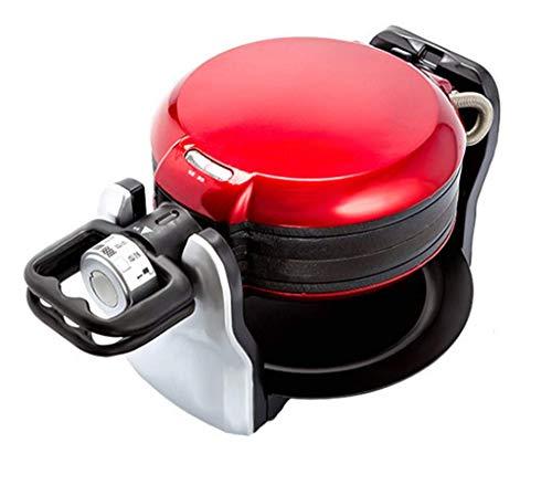 Máquina para Hacer gofres con Plancha giratoria Platos de cocción para gofres Profundos Fácil de Usar Fácil de Limpiar y rápido - Gofres en Menos de 5 Minutos