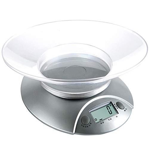 Lood Báscula de cocina digital con cuenco de peso para cocinar y quitar alimentos, con pantalla LCD