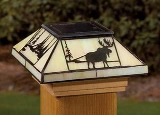 Deckorators Northwoods Filigreed Glass Post Cap Light for 4x4 Posts (Inside Dimensions measure 3-5/8 x 3-5/8) - Cedar Skirt