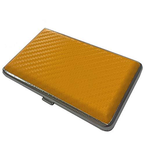 プルームテック ケース (カーボンイエロー) ハードケース PU レザー Ploom TECH PloomTECH ケース カバー スリム コンパクト シンプル 無地 合皮 電子タバコ 保護 収納 ポーチ ホルダー キャリングケース