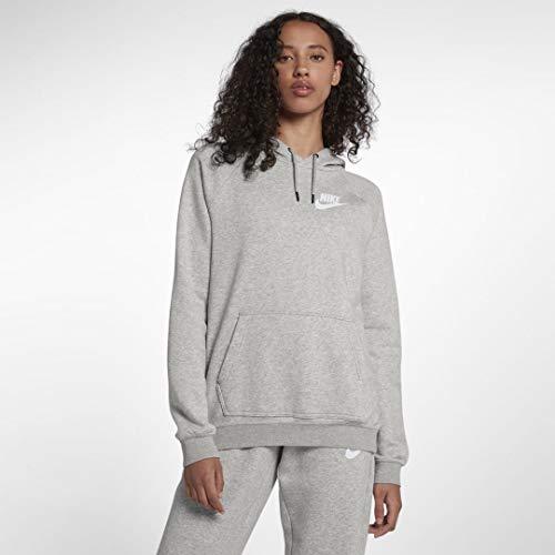 Nike Damen Sportswear Rally Hoodie, Grey Heather/Pale Grey/White, L