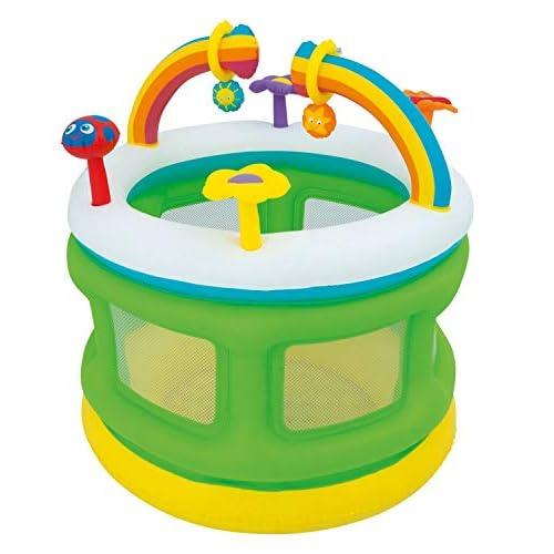 Bieco 22052221 box gonfiabili con Game Center per le diverse attività, box con maglie, attenzione a bambini, multicolore