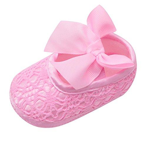 Alwayswin Baby Schuhe Neugeborene Mädchen Lauflernschuhe Bowknot Schuh Slipper Weiche Schuhe Weichbesohlte rutschfeste Turnschuhe Babyschuhe Krabbelschuhe