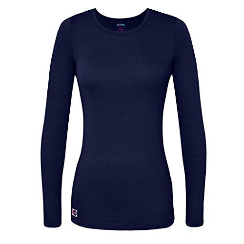 Sivvan Women's Comfort Long Sleeve T-Shirt/Underscrub Tee - S8500 - Navy - S