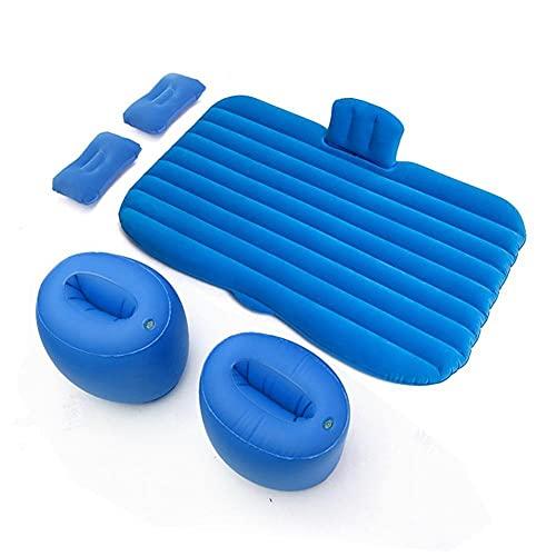 El colchón de Aire de la Cama de Viaje del Coche es cómoda, Segura y Duradera, un colchón Inflable extraíble, colchón de colchón para el colchón de Aire del colchón de Aire-Azul