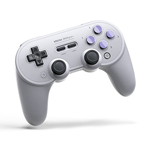 8Bitdo Sn30 Pro+ Bluetooth Controller Wireless Gamepad for Switch, PC,...