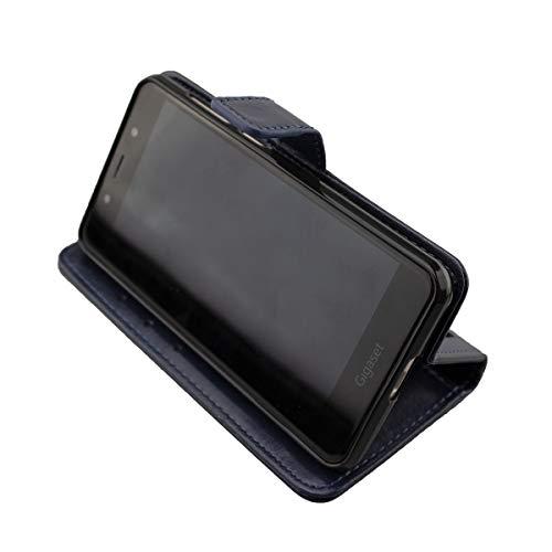 caseroxx Bookstyle Tasche für Gigaset GS180, Tasche (Bookstyle Tasche mit & ohne Bildschirmschutz) (Bookstyle Tasche mit Bildschirmschutz, blau)
