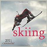 skiing: 2021 winter sports Wall Calendar, 12 Month 8.5 x 8.5 Inch, Snow Winter Sports