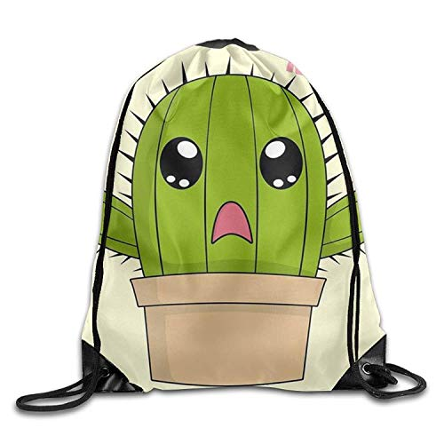 Etryrt Zaino con Coulisse,Borse Sacca,Sacchetto No Hug Cactus Thanksgiving Unisex Gym Drawstring Shoulder Bag Backpack String Bags