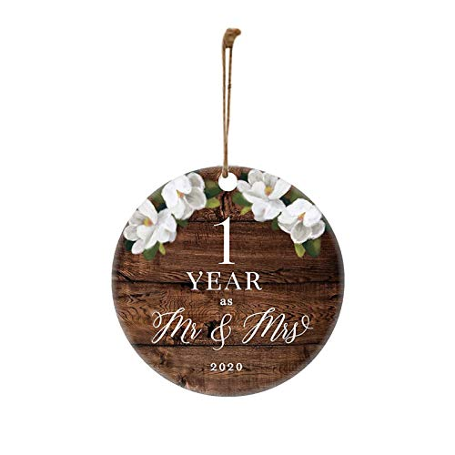 Difcuy 2020 Mr and Mrs Wedding Anniversary Pendant Ornament Decoration/Xmas Decorations Peace & Happiness Decorations