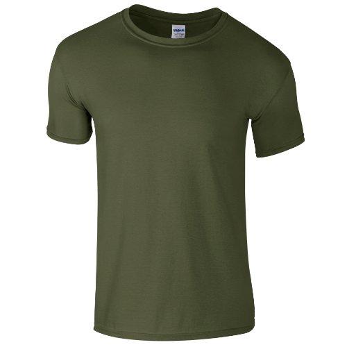 Gildan - Maglietta 100% Cotone - Uomo (M) (Verde Militare)