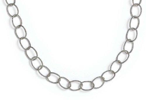Pulsera de plata de ley 925 con eslabones ovalados pequeños de 7,5 pulgadas, regalo para mujer