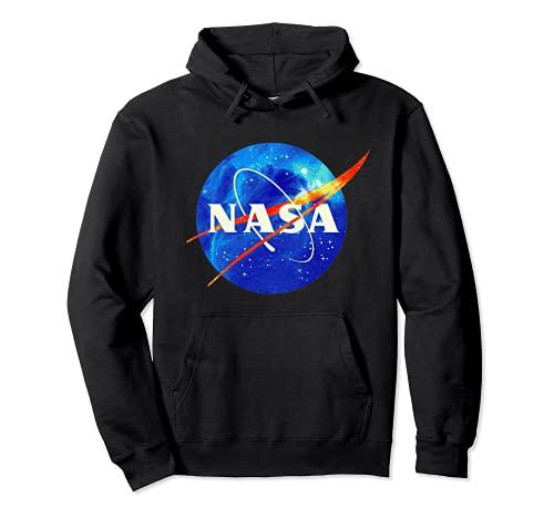 NASA, logo, universo, cosmos, galaxia, ciencia ficción retro Sudadera con Capucha