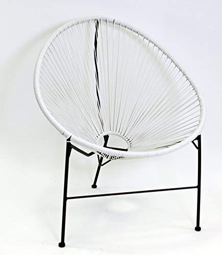 Voss Design Genialer Stuhl Acapulco Papasansessel Gartensessel Weiß Sessel Seile