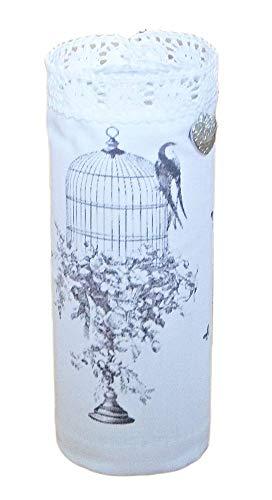 Teelichtglas Windlicht Birdcase Leuchter handmade