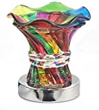 Rainbow Colored Glass Electric Touch Activation Warmer for Fragrances Aroma Essential Oils and Waxes
