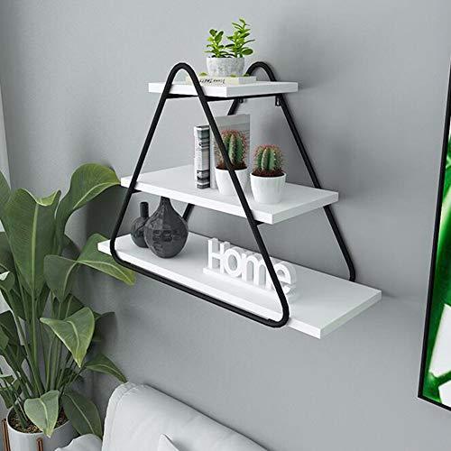 YEYE wandgemonteerde zwevende planken, houten wandplanken metalen steun muur plank voor keuken woonkamer opslag planken 60x60x20cm(24x24x8inch) B