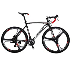 Road bikes with 21 Speed Shifting system ensure you to shifting the bike for safety at any speed. Dual Disc brake provided great stopping power. If you have any questions or problems for tuning the brake or shifting system, please feel free contact u...