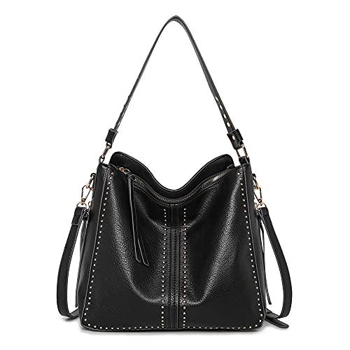 Montana West Large Hobo Handbag for Women Studded Leather Shoulder Bag...