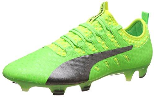 Puma Herren EvoPower Vigor 1 FG Fußballschuhe, Grün (Green Gecko Black-Safety Yellow 01), 39 EU