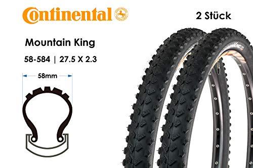 2 Stück 27,5 Zoll Continental Mountain King Fahrrad Reifen 58-584 MTB 27.5x2.3 Mantel Mountain Bike E25
