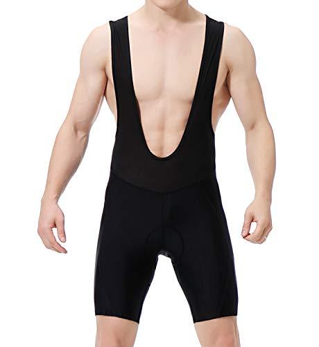 O·HFS Men's Cycling Bib Shorts 3D Padded Bike Shorts –Value and Comfort (Black, L)