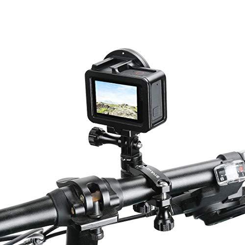 Linghuang Fietsclip, 360 graden draaibaar, MTB-houder met schroeven voor GoPro Hero 7/6/5 Session /5/4 Session /4/3+/3/2/1 DJI Osmo Action Xiaoyi andere actiecamera's