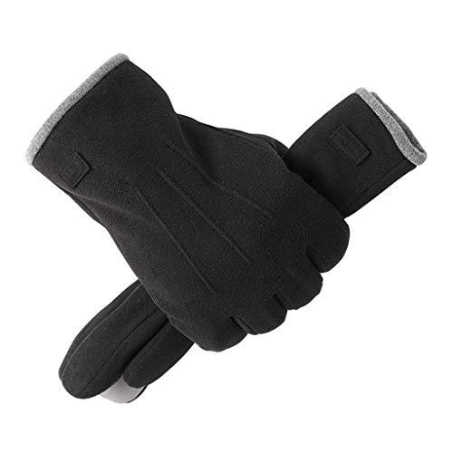 Guantes De Ciclismo A Prueba De Viento Para Hombre Guantes De Invierno Con Pantalla Táctil De Dedo Completo Guantes De Conducción Cálidos Al Aire Libre guantes de transpirables ( Color : Negro )