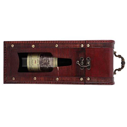 Deryang Caja de Vino, Caja de Vino, Vintage para Llevar como Paquete de Vino Caja de Almacenamiento de Vino Vino Tinto