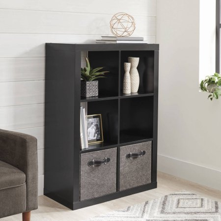 Better Homes and Gardens 6-Cube Organizer, SOLID BLACK