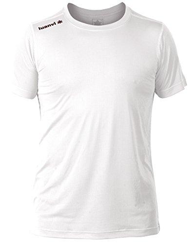 Luanvi Nocaut Gama Pack de 5 Camisetas, Hombre, Blanco, XL