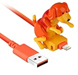 Funny Rogue Dog Data Cable Smartphone Cargador USB Cable de carga portátil es fácil de usar, columpios al cargar (para iPhone)