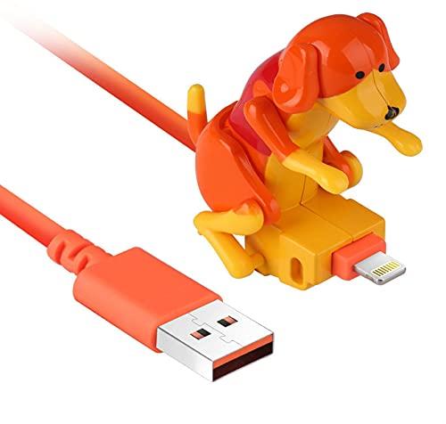 Funny Rogue Dog Data Cable Smartphone Cargador USB Cable de carga portátil es fácil de usar, columpios al cargar (para iPhone)