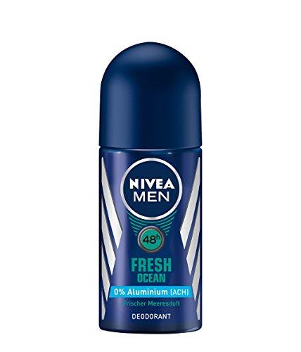 Nivea Men Fresh Ocean Deo-Roller, Ohne Aluminium, Deo-Schutz, 6er Pack (6 x 50 ml)